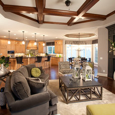 Contemporary Family Room by Walker Homes LTD