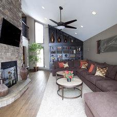 Contemporary Family Room by SE Interior Design, Inc