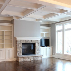 Traditional Family Room by Mack Colt Homes, Inc.