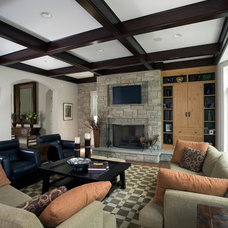 Eclectic Family Room by Orren Pickell Building Group