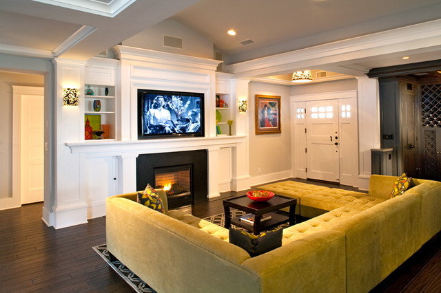 Traditional Family Room by lisa franco