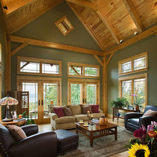 Contemporary Family Room by Woodhouse Post & Beam Homes
