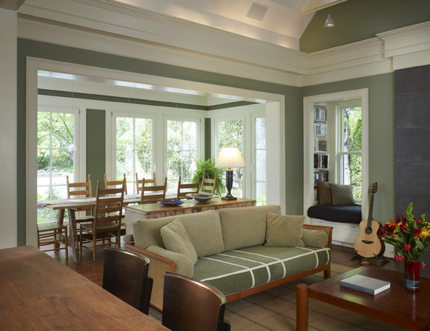 Eclectic Family Room by Merrick Design and Build Inc.