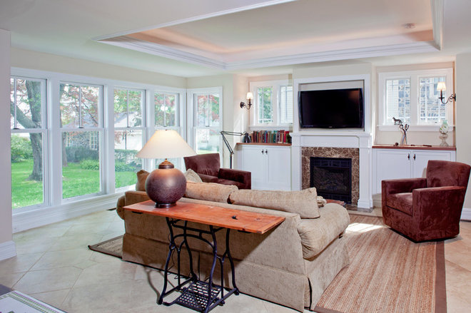 Eclectic Family Room by Kohl Building Products
