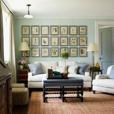 Traditional Family Room Green House Chic