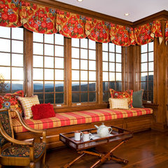 traditional family room by Elizabeth Swartz Interiors formerly ERS Design LLC