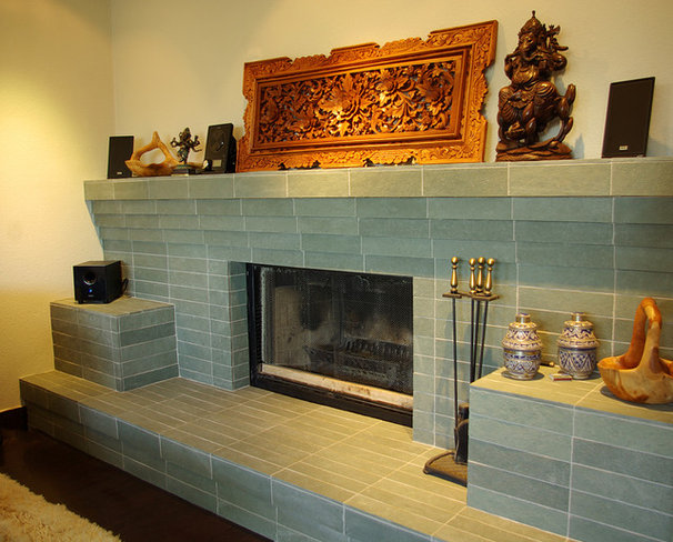 Asian Family Room by Continuum Tile Co.