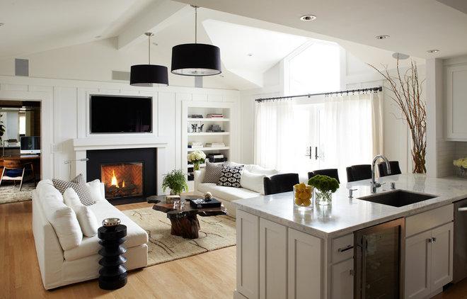 Contemporary Family Room by Urrutia Design