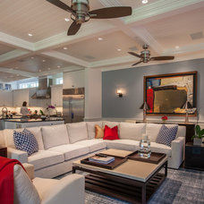 Transitional Family Room by Key Residential