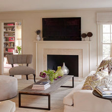 Eclectic Living Room by shelley morris interiors