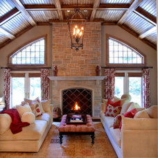 Traditional Family Room by Diane Gerardi Design