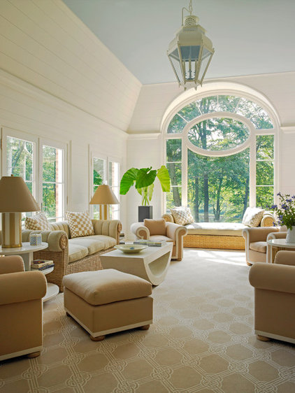 Traditional Family Room by James Schettino Architects