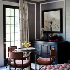 Transitional Family Room by Thom Filicia Inc.