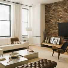 Industrial Living Room by Raad Studio