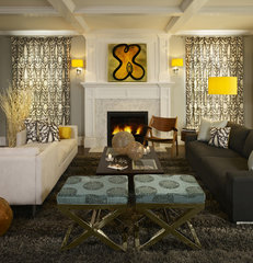 contemporary family room by O Interior Design