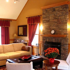 Traditional Family Room by Denyne Designs