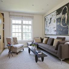 Contemporary Family Room by Studio Santalla, Inc
