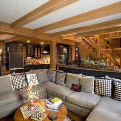 eclectic family room by Oak Hill Architects
