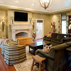 Eclectic Family Room by Wynn & Associates