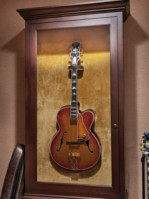 Guitar Display Cabinet Ideas, Pictures, Remodel and Decor