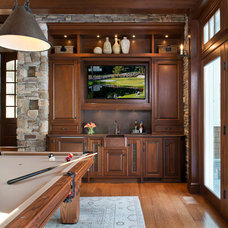 Traditional Family Room by Twin Peaks Construction, LLC