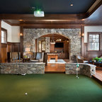 Gym Amp Golf Simulator Traditional Room Boston Twin Peaks Construction Llc