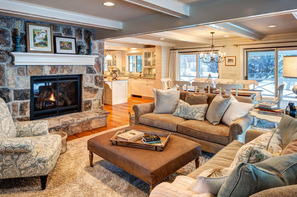 Traditional Family Room by Smart Construction & Development, Inc.