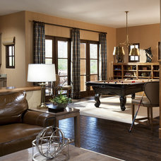 Mediterranean Family Room by Hallmark Interior Design LLC