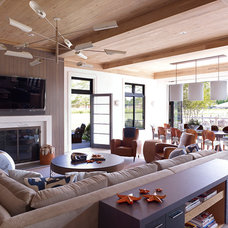 Beach Style Family Room by Stephens Design Group