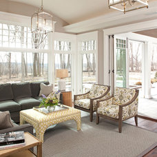 Traditional Family Room by Eskuche Design
