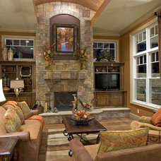 Traditional Family Room by Studer Residential Designs