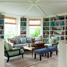 Transitional Family Room by ALICE BLACK INTERIORS