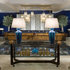 Eclectic Family Room by Stephens Design Group