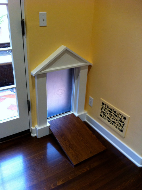 Custom dog door houzz for Dog door options