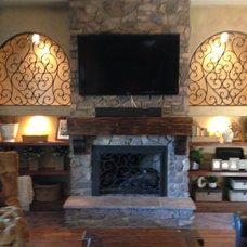 Mediterranean Family Room by Ironic Metalworks LLC