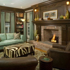 Eclectic Family Room by Maria K. Bevill Interior Design