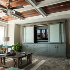 Beach Style Family Room by Quality Custom Cabinetry, Inc