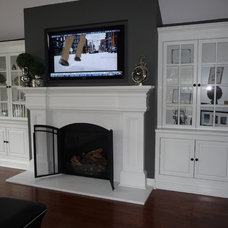 Traditional Family Room by S.D.M. Custom Finish Carpentry