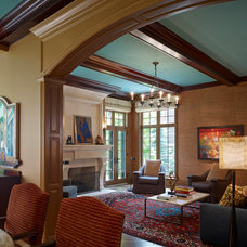 Eclectic Family Room by Mitchell Channon Design