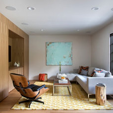 Midcentury Family Room by Stuart Sampley Architect