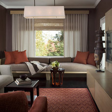 modern family room by Jiun Ho Inc.