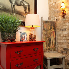 Eclectic Family Room by Kerri Robusto Interiors