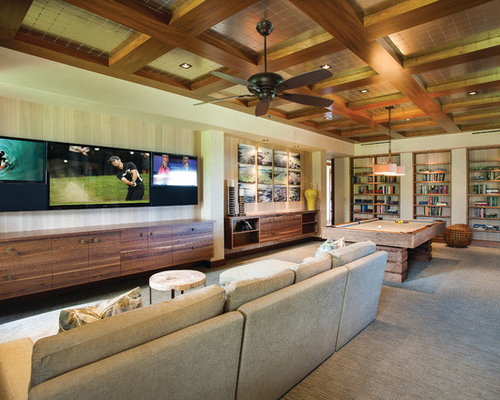 Game Room With Tv | Houzz