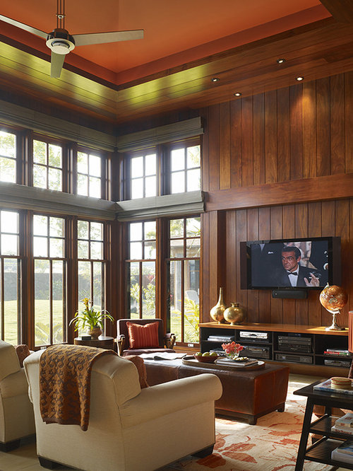 tv wood panel home design ideas pictures remodel and decor 15582 | 8fd1ee330f32e936 7299 w500 h666 b0 p0 tropical family room
