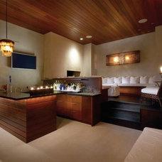 Contemporary Family Room by Aria Design Inc