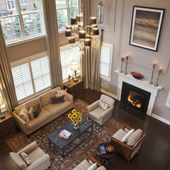 contemporary family room by Mary Cook