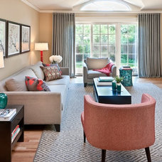 Contemporary Family Room by Kimberly Demmy Design