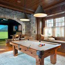 Traditional Family Room HD Golf Simulators