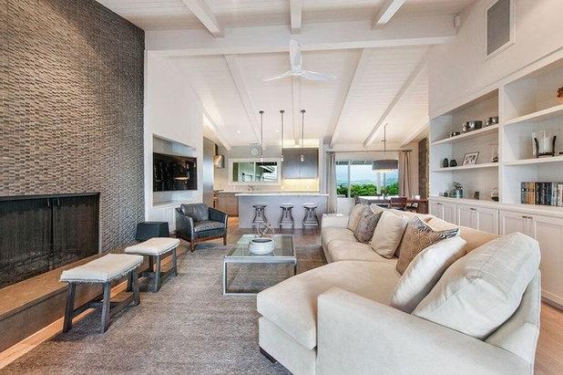 Contemporary Family Room Healdsburg Hillside Ranch