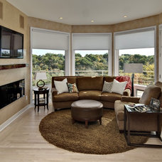 Contemporary Family Room by Design By Lisa